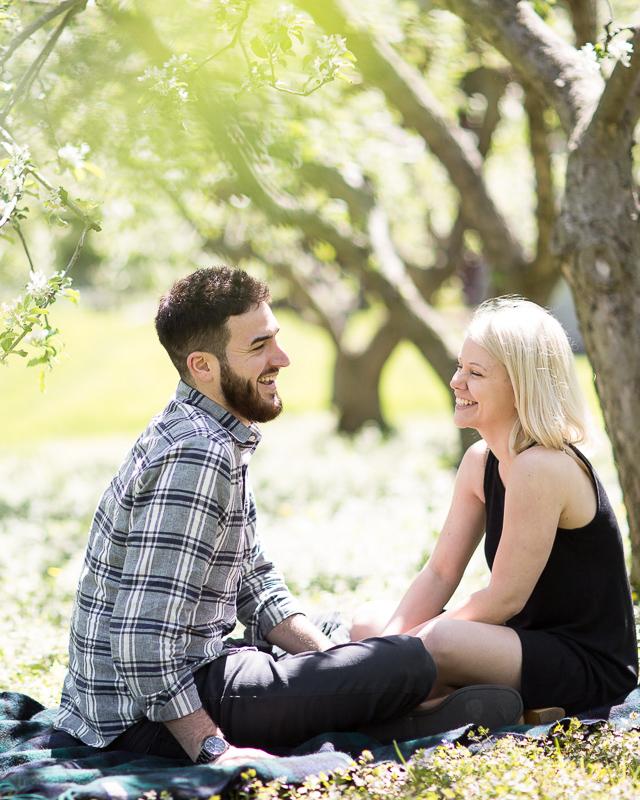Vermont Spring Cherry Blossom Engagement Lindsay Raymondjack