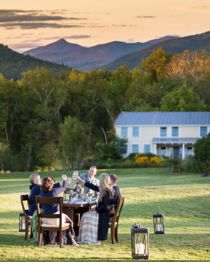 Intimate Mountain Summer Wedding at Russell Young Farm Bristol Vermont Lindsay Raymonjack