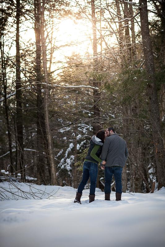 Northern Vermont winter Engagement Photos LINDSAY RAYMONDJACK_001
